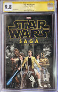 Star Wars Saga 1 Cgc 9.8 Signed By Harrison Ford Autograph Mint New Case Htf