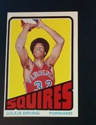1972-73 Topps Julius Erving Rookie Card 195 Excellent-near Mint See Scan