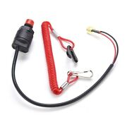 Outboard Engine Motor Scooter Atv Kill Stop Switch Safety Tether Cord Lanyard