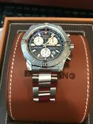 Breitling A73388 Stainless Steel Blue Dial Colt 44mm Chronograph Quartz Date