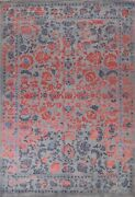 Vegetable Dye Wool/ Silk Ziegler Oriental Floral Area Rug Hand-knotted 9and039x12and039