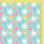 Unit Of 5 And 10 Yard Easter Cotton Digital Print Fabric By The Yard