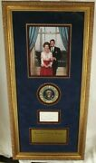 Ronald Reagan 40th President U.s And Nancy Autograph Display Jsa Authenticated