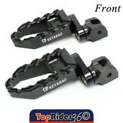Cnc 25mm Extender Wide Buzz Rider Footpegs For Harley Softail /slim Breakout