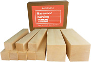 10pcs Basswood Carving Blocks Beginners Carving And Whittling Wood
