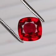 Natural Mozambique Red Ruby 8.80 Ct Perfect Square Cut Loose Certified Gemstone