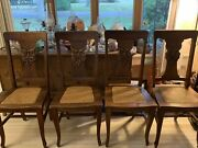 North Wind Face Set Of 4 Oak Chairs By Michigan Chair Company Rare Antique