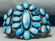 One Of The Best Ever Vintage Navajo Turquoise Sterling Silver Bracelet