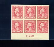 533 Washington Imperf Offset Mint Plate Block Of 6 Stamps Stock 533-pb4