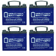 Mighty Max 12v 35ah Gel Replacement Battery For Exmark Zero-turn Mowers - 4 Pack