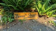 Classic Antique Authentic 1920s 30s Burman Shave And Cut Off Road Sign 2-sides
