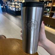 Starbucks Tumler Cold Cup Mug W/ Liddouble Stainless Steel 17ozsilver Bz011