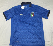 Italy National Team 2020 European Cup Home Soccer Jersey Blue