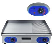3000w Electric Griddle Bacon Grills Commercial Large Hotplate Countertop Bbq New
