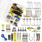 Madbite Species Tackle Kits 187 Pcs Bass Fishing Lures Hooks Soft Plastic And