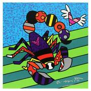 Britto Scorpio Hand Signed Limited Edition Giclee On