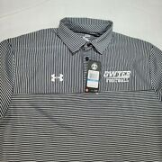 Under Armour Menandrsquos Polo Shirt Gray Black Dwyer Football Embroidered Logo Size Xl