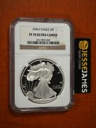 1996 P Proof Silver Eagle Ngc Pf70 Ultra Cameo Classic Brown Label