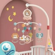 Jmsc Baby Crib Remote Mobiles Rattles Music Educational Rotating Bed Bell /light