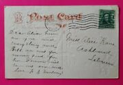 Benjamin Franklin 1 Cent Stamp On Rare Postcard 1907 Post Marked 114 Years Old