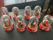 Coca Cola Christmas Collectibles- Full Set Of 8 Slightly Used
