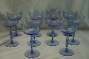 Tiffin Fontaine Twilight 10 Champagne Tall Sherbet Glasses, 6 1/8