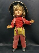 Vintage Ideal Composition Doll, Western Texas Ranger Outfit 23 Tall
