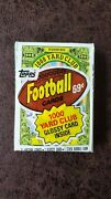 1986 Topps Football Unopened Cello Pack - William Refrigerator Perry Rc Back