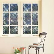 Frosted Stained Static Cling Glass Film Window Door Sticker Private Home Decors