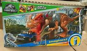 New Fisher-price Imaginext Jurassic World T-rex Dinausour Escape Jeep 4x4 Toy