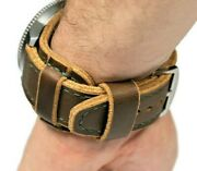 Leather Cuff Watch Band Horween Leather Bund Band Steampunk Wristband Mens Brown
