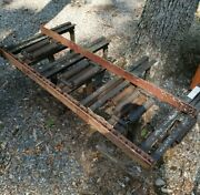 Heavy Duty Spring Tooth Harrow Plow Missing Three Point Hitch - Working