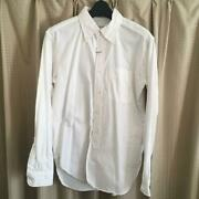 Engineered Garments 19th Bd Shirt Heavy Oxford White Cotton Size S Mens New