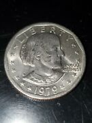 1979-p Susan B Anthony 1 Dollar Coin Wide Rim/near Date - Uncirculated