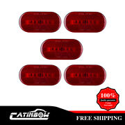 5x Red Led Truck Trailer Rv Clearance Marker Lights Reflective 6 Diodes 4x 2