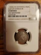 1790 Ng M Guatemala One Reale Silver Coin Bust Of Charles 20 Rotated Die