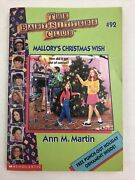 Mallory's Christmas Wish 92 Baby-sitters Club Ann M. Martin 1995 Paperback Book