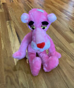 """Vintage Pink Panther Plush Stuffed Animal Doll Toy 1980 15"""" Mighty Star"""