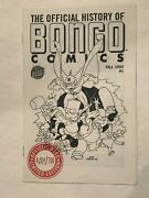 Simpsons 1993 Sdcc Promo The Official History Of Bongo Comics 201 Of 750.