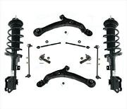 10 Pc Kit Front Complete Struts Lower Arms W Ball Joints For 11-15 Honda Odyssey