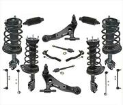 Front And Rear Struts W/ Control Arms Tie Rods + Links 18pcs For Toyota Camry 3.5l