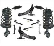 12 Pc Kit Front Struts Control Arms Tie Rods Links + Boots For Toyota Camry 3.5l