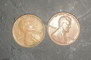 Two 1950 Wheat Penny No Mint Mark