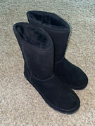 Bearpaw Womens Elle Black Short Warm Winter Insulated Boots Shoes Size 7