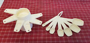 Vintage Retr0 Set Of Tupperware Measuring Spoons And Cups Andndash Almond Andndash Perfect