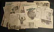 Magic Johnson Michigan State Spartans Newspapers 1979 Ncaa Champs Nba Lakers