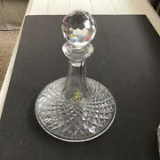 Waterford Crystal Ships Decanter In Alana Pattern , Signed On Bottom Rim