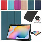 Leather Case Cover With Pen Holder For Samsung Galaxy Tab S6 Lite 10.4 P610 P615