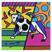 Britto Taurus Hand Signed Limited Edition Giclee On