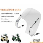 For Vespa Sprint 150 Motorcycle Stainless Steel Bracket Windshield Accessories